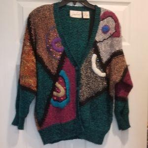 JACLYN SMITH crazy vintage cardigan